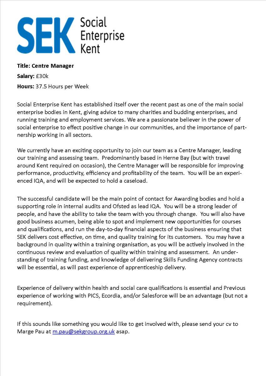 SEK opportunity! #RedZebra #KentCan #HerneBay #Canterbury #SocEntKent #SocEntUK https://t.co/18vuiAt3r4