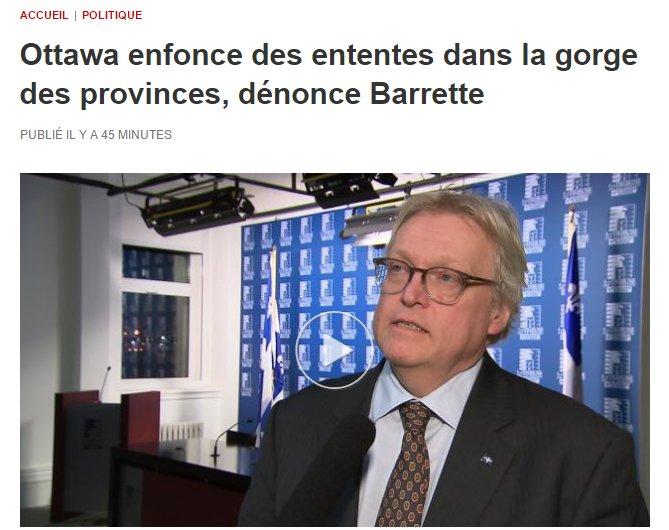 Le ministre Barrette découvre les joies du fédéralisme. #ÔCanada #Canada150  #PolQc #PolCan #PaysQc<br>http://pic.twitter.com/AeOl9qL3yt
