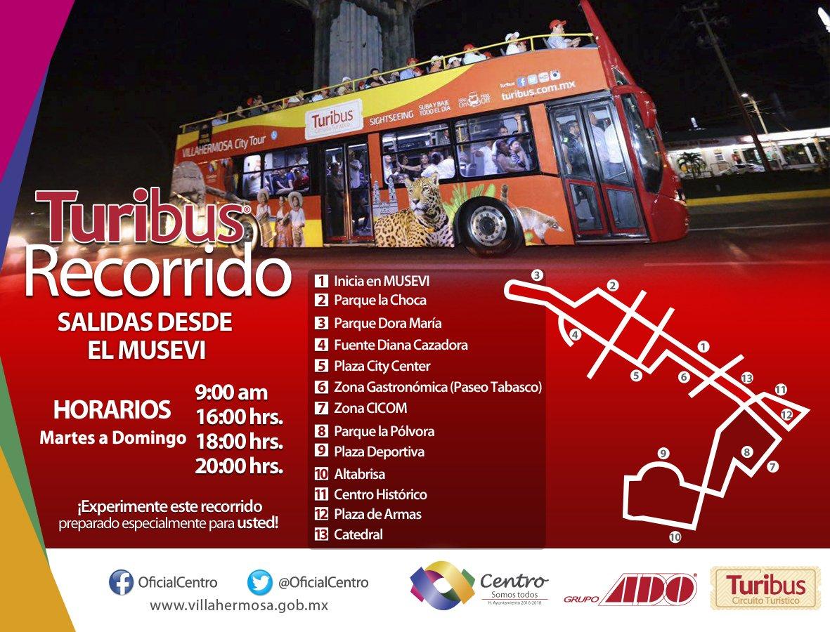De martes a domingo disfruta del Recorrido #Turibus. https://t.co/ccep...