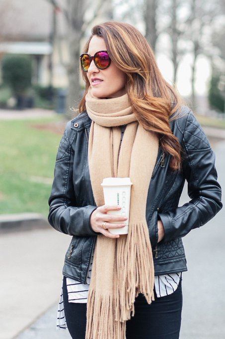 Fringe Scarf Winter Outfit
