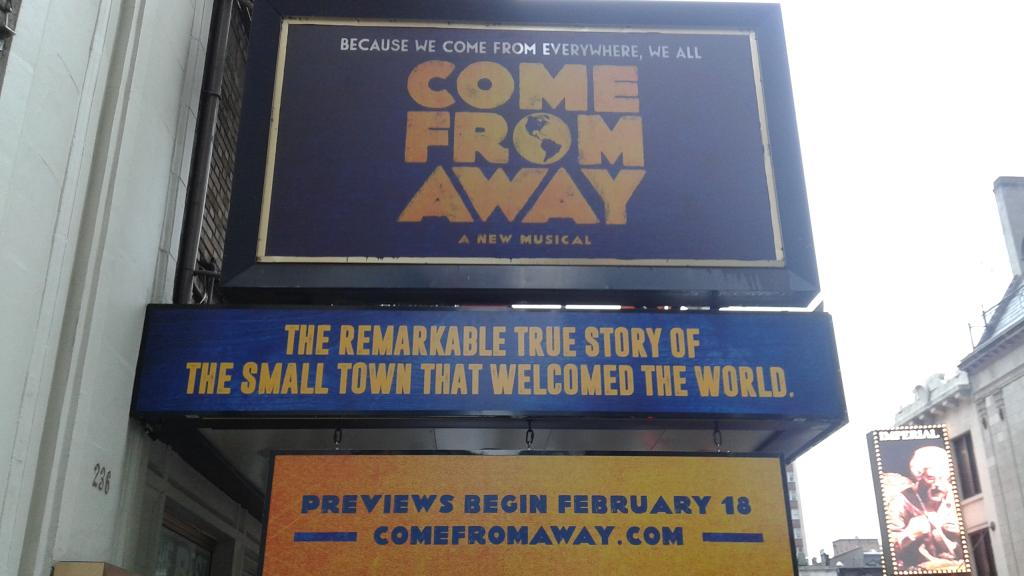 There's more there's more! It's here! @wecomefromaway #ComeFromAway https://t.co/Q3ow4r2Pgx