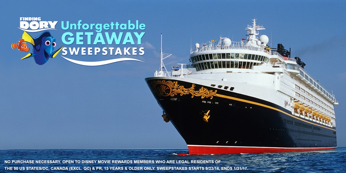 Enter for your chance to win a 4-night Disney Cruise as part of the @Disney_DMR Unforgettable Getaway Sweepstakes! https://t.co/qZFEYaaMN3 https://t.co/8vGo5wfEwq