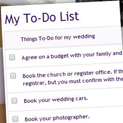 wedding plans to do list