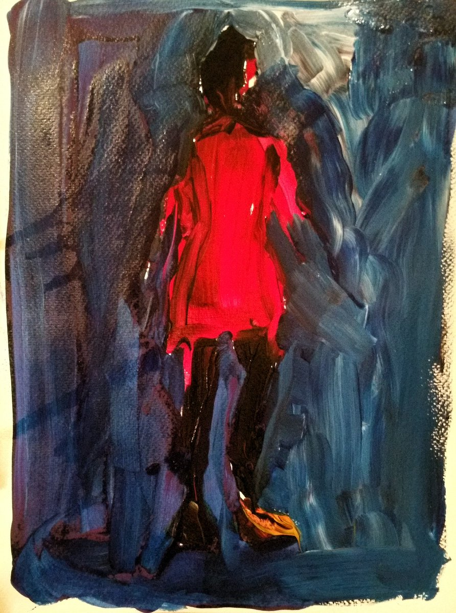 #lumierE [#i #rouge #u #vert #E #blanc];#teinture et #acrylique sur #papier<br>http://pic.twitter.com/wtlg1MlZi3