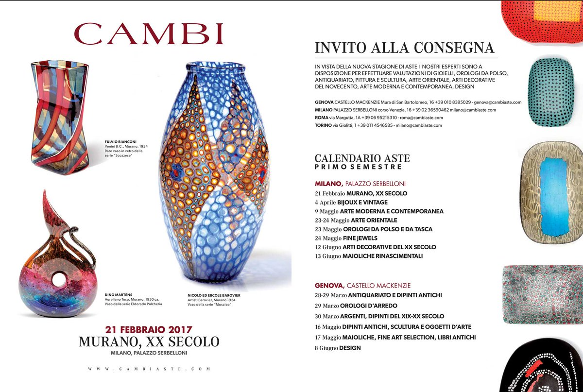 Calendario Aste Torino.Cambi Casa D Aste On Twitter Calendario Aste Cambi 1