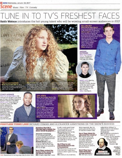 Great to see @Amy_wren in today's @MetroUK. She is one to watch!