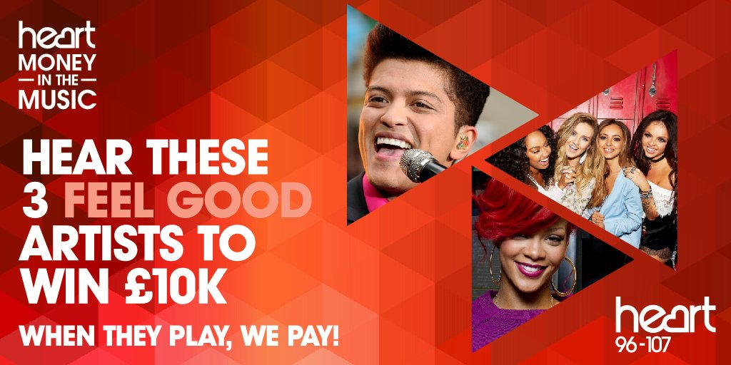 These 3 feel good artists could win you £10,000! #BrunoMars #LittleMix...