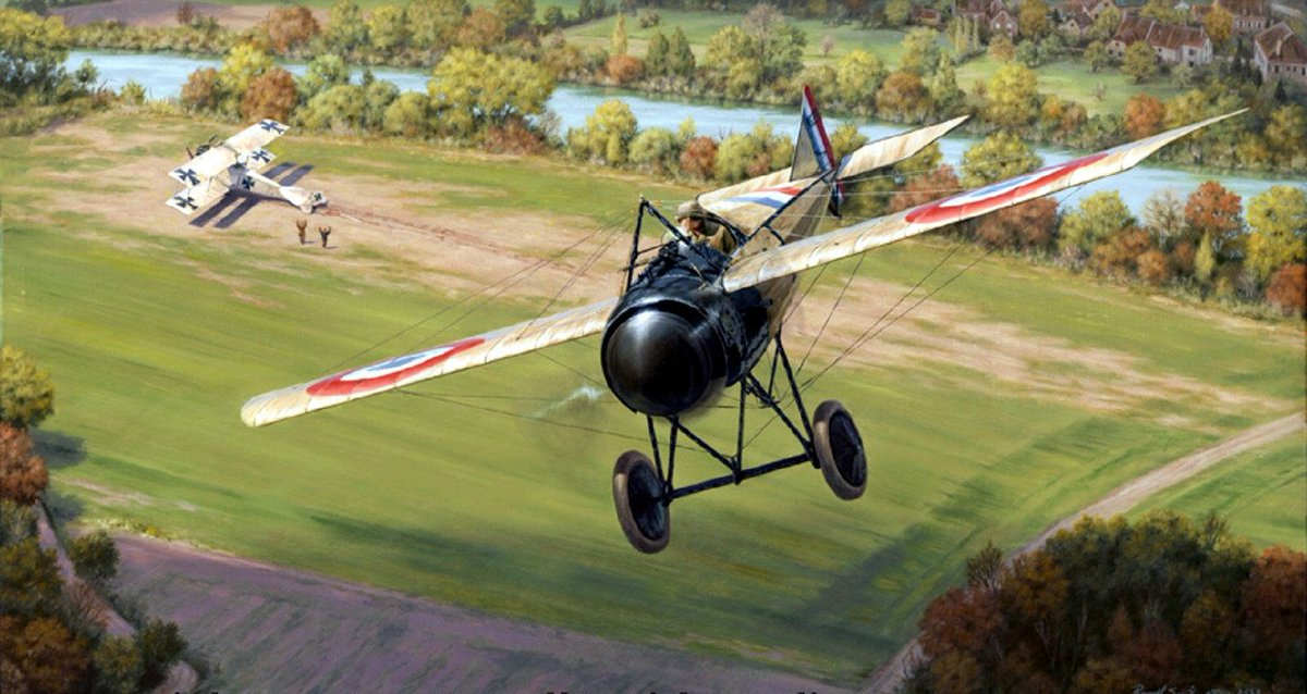 The third victory of French ace Jean Marie Dominique Navarre (1895-1919). He was the first officially designated French air ace of WW1. <br>http://pic.twitter.com/nMG1jE5c8H