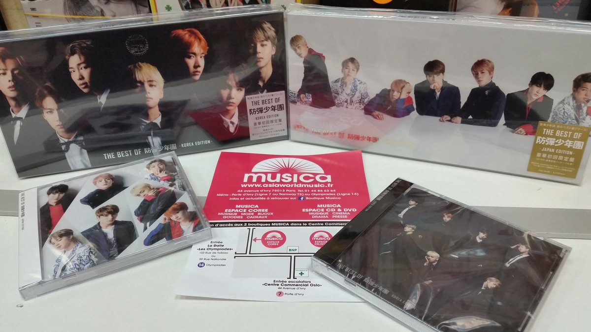 L&#39;album Best of Bangtan Boys #KOREA #JAPAN des #BTS est chez @BoutiqueMusica   http://www. asiaworldmusic.fr  &nbsp;  <br>http://pic.twitter.com/W1Yn9g3HmU