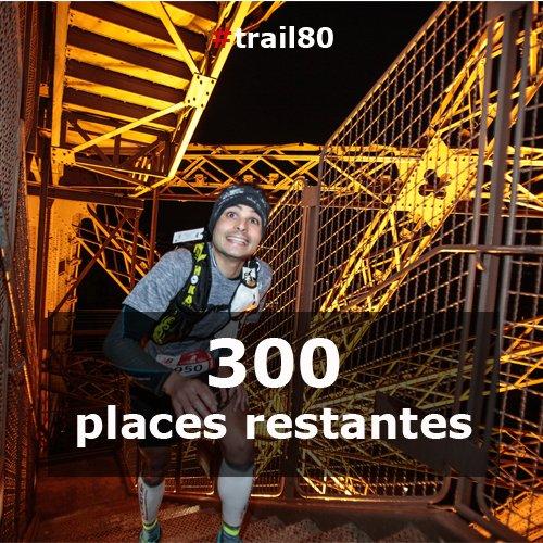 Plus que 300 places sur le #trail80 et son arrivée au 1e étage de @LaTourEiffel ! #ecotrail #paris #etp17 #trail &gt;&gt;  http://www. traildeparis.com  &nbsp;  <br>http://pic.twitter.com/0S9hk29ZIo