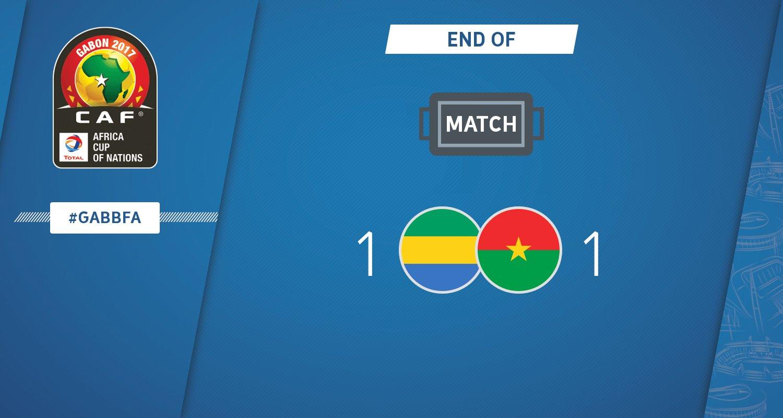 أهداف مباراة الجابون وبوركينا فاسو 1-1