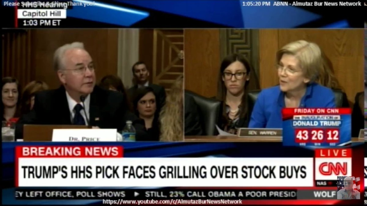Most-feared Sen. Elizabeth Warren gets Tom Price to admit Medicare and Medicaid cuts may be on table. #PriceIsWrong #wednesdaywisdom <br>http://pic.twitter.com/gWH4qoOrZ1