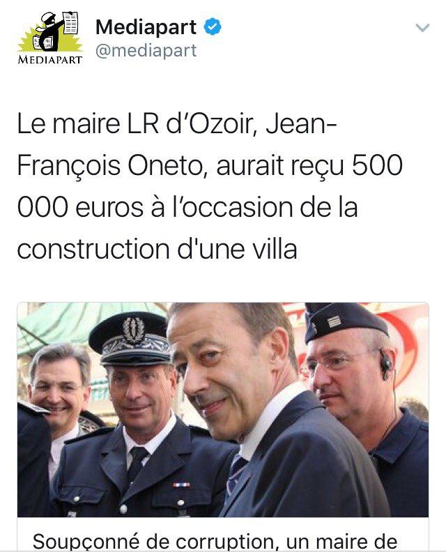 500.000€ pour #Oneto , 500.000€ pour #Guéant , cette somme a décidément la faveur des #Républicains !    #LR #mafia<br>http://pic.twitter.com/9zspaos9dd