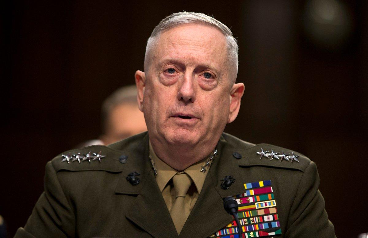 Джеймс Мэттис утвержден министром обороны США