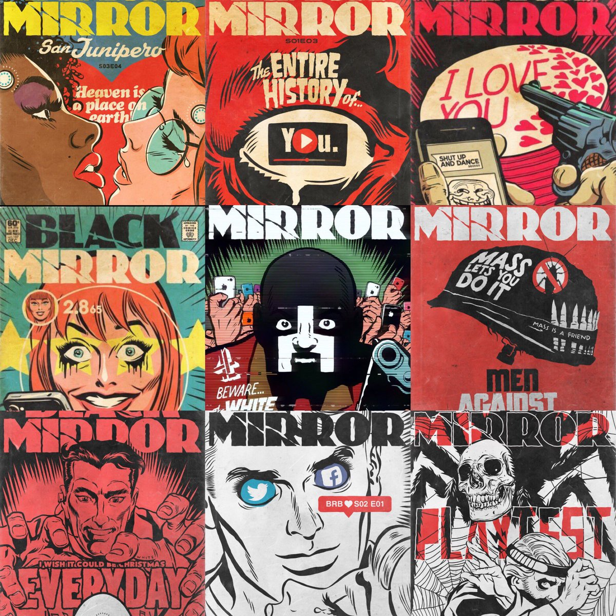 Book Cover Black Mirror : Wellyousaythat on twitter quot these black mirror comic