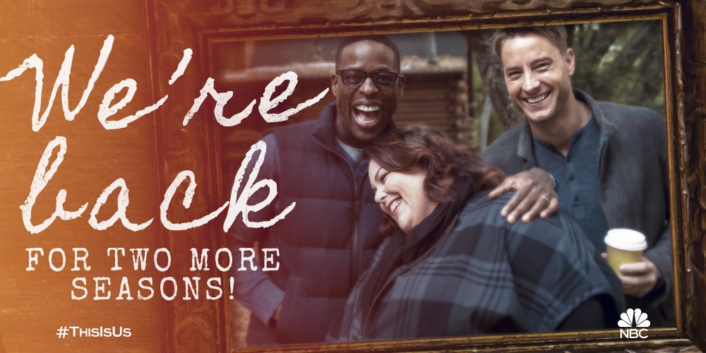 We\'re excited to announce that The Big Three will be back for Seasons 2 and 3! #ThisIsUs #NBCUTCA #TCA17