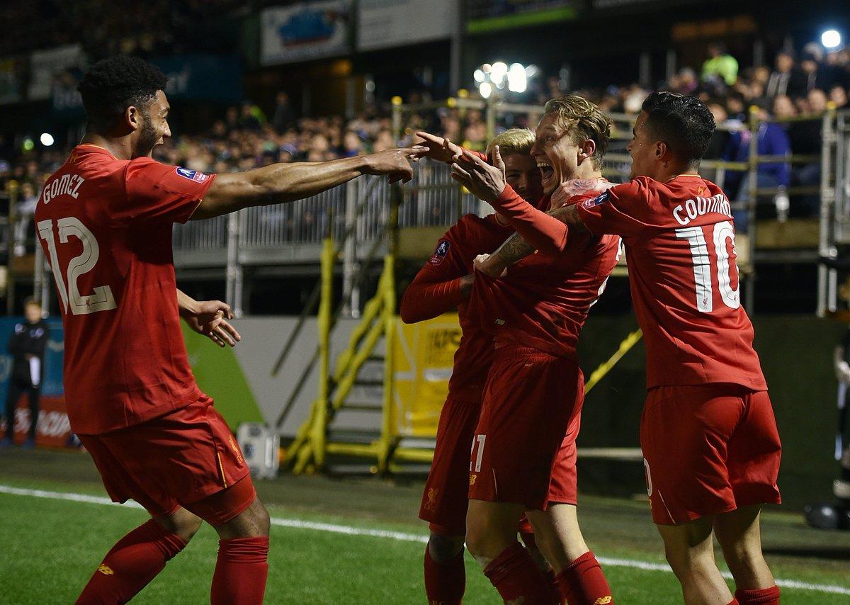 Lances de Plymouth 0x1 Liverpool - Copa da Inglaterra 16-17