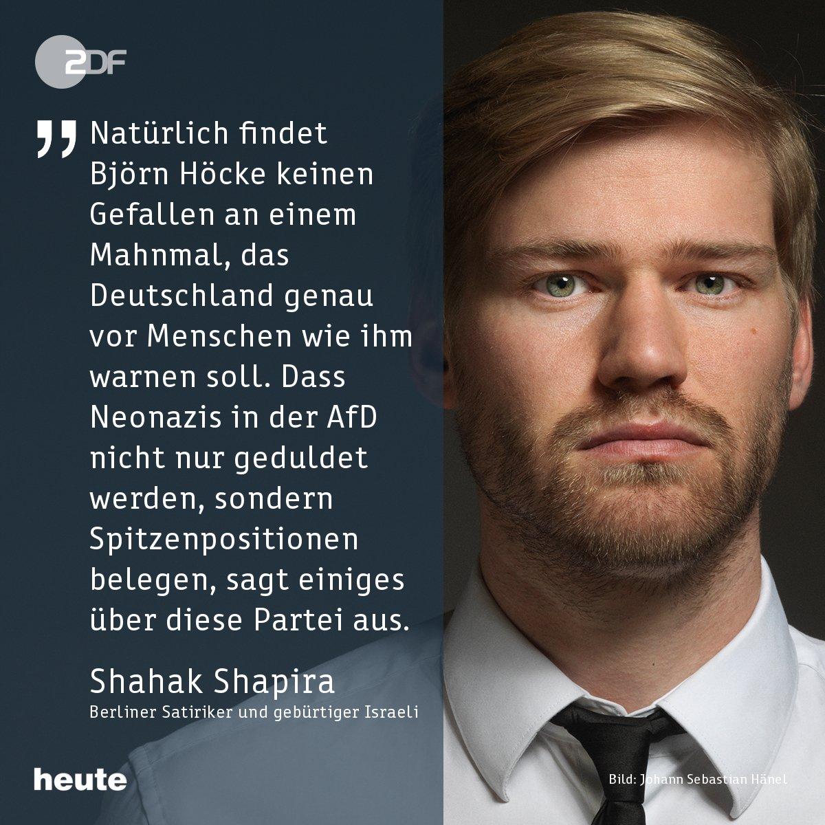 Der Berliner Satiriker und gebürtige Israeli @ShahakShapira reagiert auf das #Höcke-Zitat zum #Holocaustmahnmal. #AfD