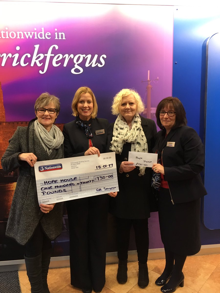 Hope House local charity delighted to receive £130 from team Carrick today @NBSNINE #buildingsociety #citizenship <br>http://pic.twitter.com/VhUPY5AHkH