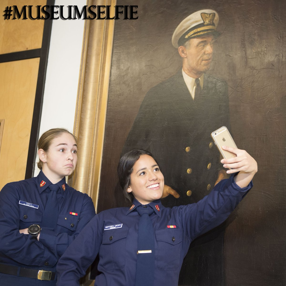 @USCGAcademy Cadets and Staff enjoy museum selfie day at the CG Museum...