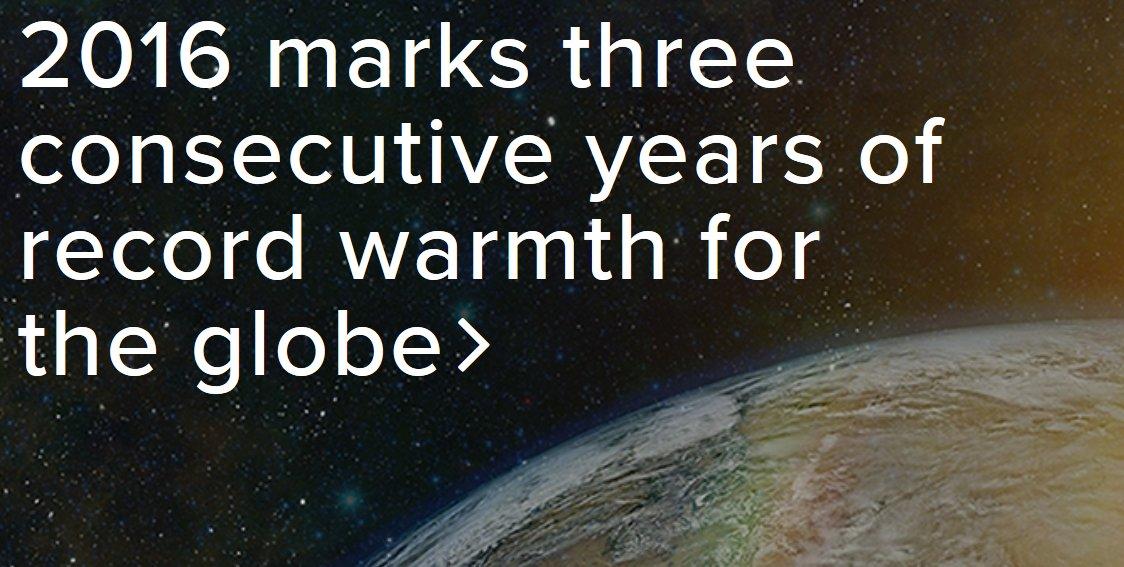 Nous sommes donc déjà à +1,1°C :( Triste &quot;record&quot; confirmé (sans surprise) par @noaa  Agir maintenant ou jamais. #climat <br>http://pic.twitter.com/xU5ZLHvs39