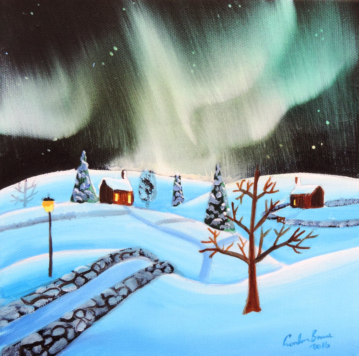 Etsy listing - the #northern lights #painting    https://www. etsy.com/uk/listing/464 778518/northern-lights-painting-a-winter-folk?ref=shop_home_active_1 &nbsp; … <br>http://pic.twitter.com/T2yf0AUxXB