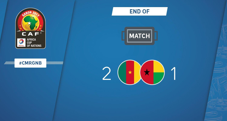أهداف مباراة الكاميرون وغينيا بيساو 2-1