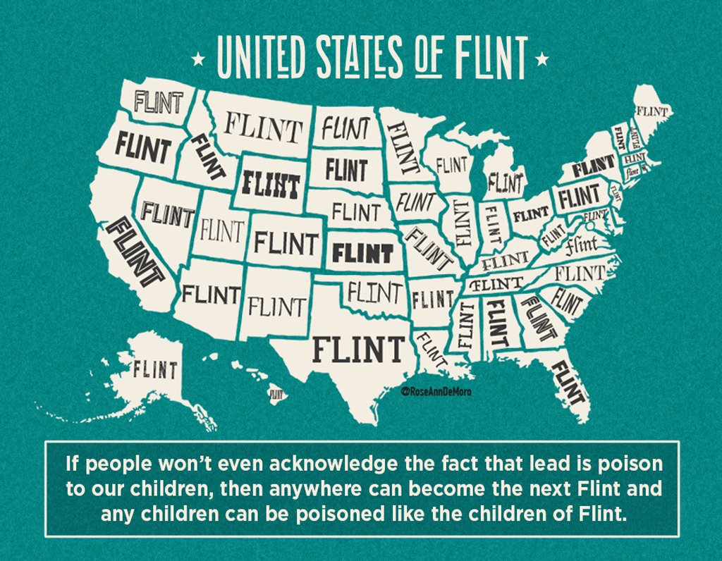 Thousands of areas have worse lead poisoning than #Flint. We need an EPA chief that will take #publichealth seriously. #WednesdayWisdom #1u<br>http://pic.twitter.com/ApkNIB9W65