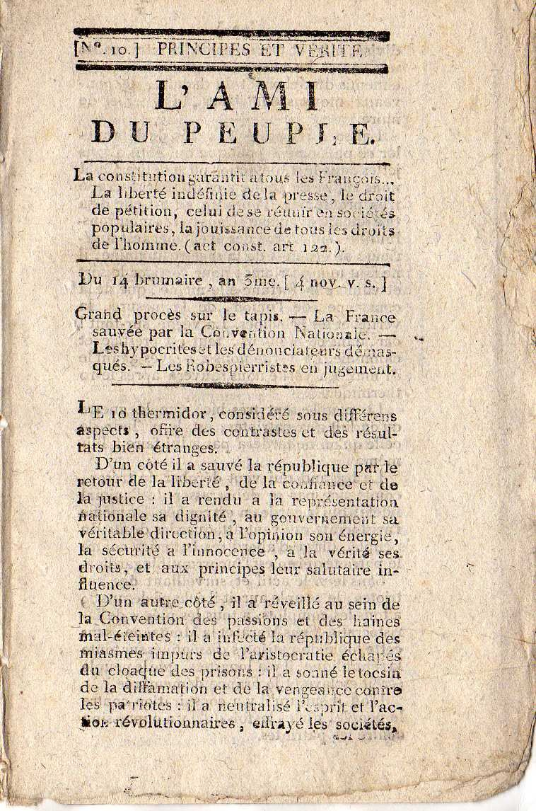 jean paul marat newspaper