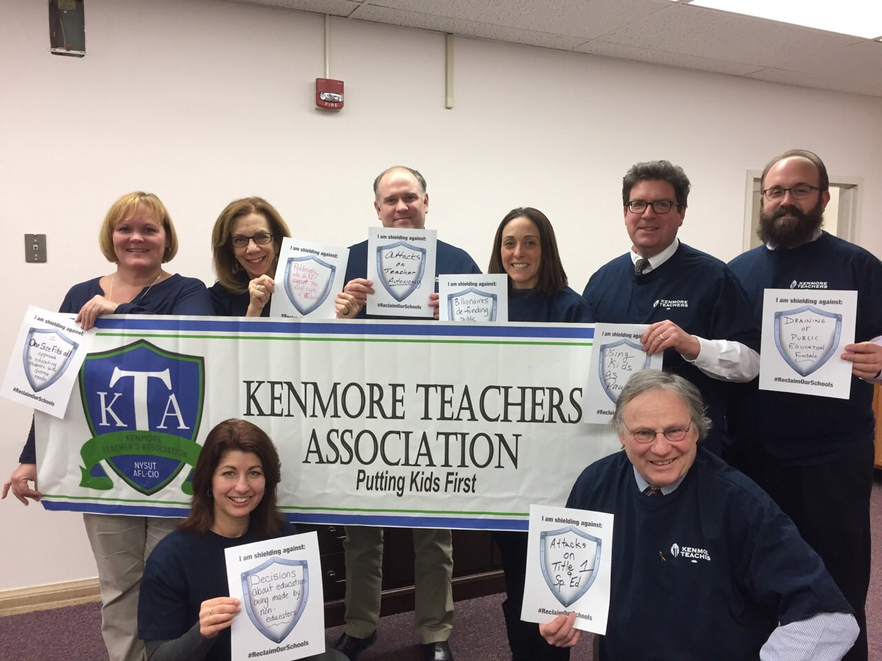 KTA Executive Board prepping 4 Jan 19 #DayofAction #ReclaimOurSchools #DumpDevos #NotMySOE  @nysut @campaignconrad @lilbird77 @shuflinoff https://t.co/lCLuJysAyE