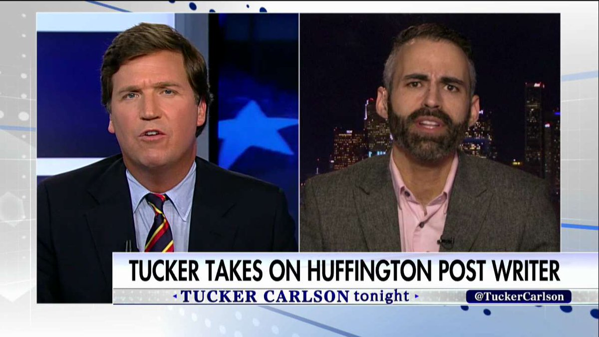 .@TuckerCarlson to @AlexMohajer: &quot;Shame on @HuffingtonPost  for printing your garbage.&quot; #Tucker <br>http://pic.twitter.com/qFAHZEhzKl