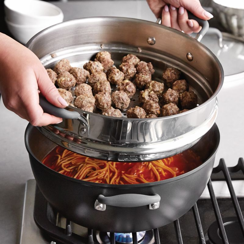 Our All-Purpose Pot and Steamer Set is ideal for everyday family-size...