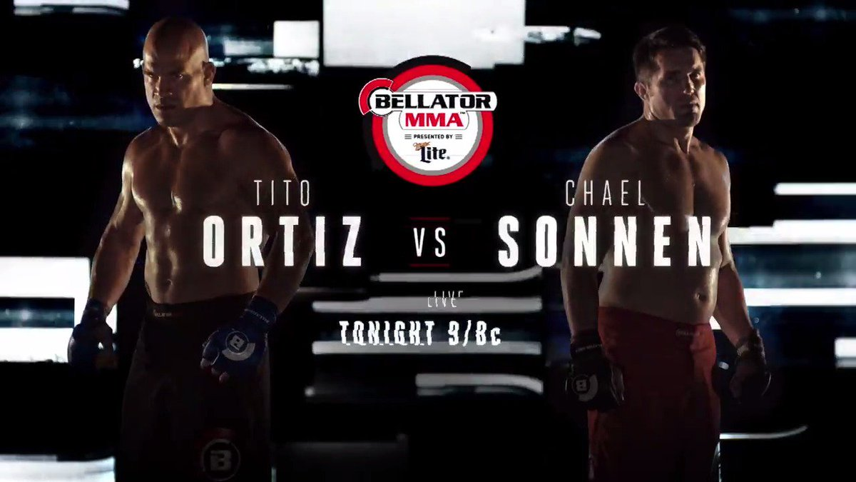 Finally. No more words. Just war!!! #Bellator170: @titoortiz vs @chael...