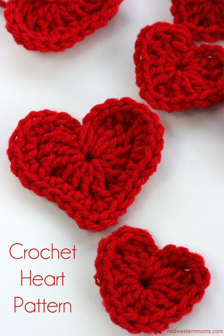 How To Crochet A Heart Plus DIY Heart Garland