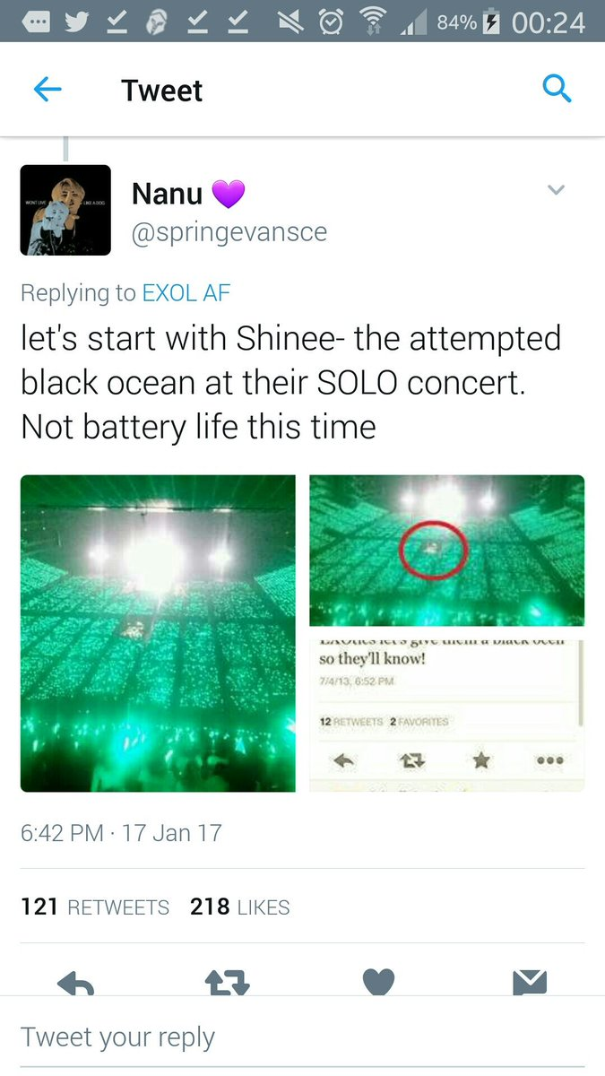 This army is trying to blame exo-ls for trying to do a black ocean for shinee when in fact that area is for staff