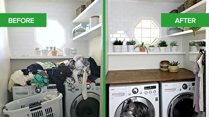 Laundry Room Refresh: Procrastination Station Transforms Into Productive Laundry Room