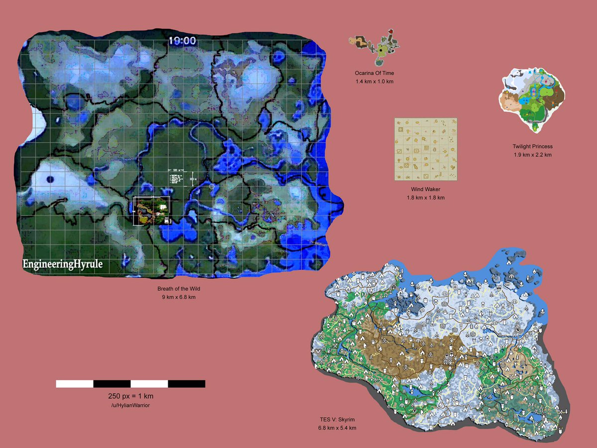 #TheLegendofZeldaBreathoftheWild map is HUGE! I can't wait for this. https://t.co/QEUTDP0soS