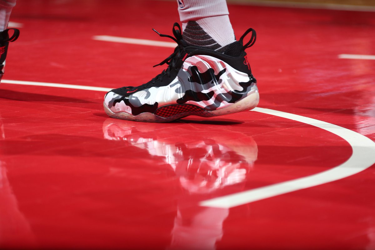 98299ffedbd markieff morris in the nike air foamposite one fighter jet tonight vs  memphis