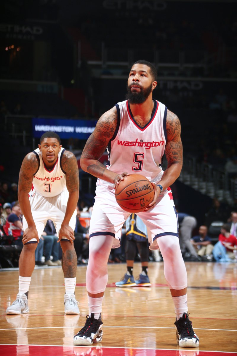 finest selection 271b3 31c9b ... low price markieff morris in the nike air foamposite one fighter jet  tonight vs. memphis