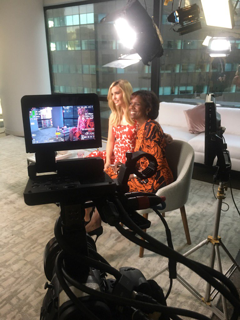 Talked with @IvankaTrump about her new #life and possible role in trump administration  will share on @GMA tomorrow https://t.co/Zx5PiOBxnI