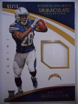 Melvin Gordon &#39;15 Immaculate Collection #Rookie #Helmets #Rookie #Card RC #&#39;d 05/15  http:// dlvr.it/N8GHlV  &nbsp;   #NFL <br>http://pic.twitter.com/iaUnbBa1GX