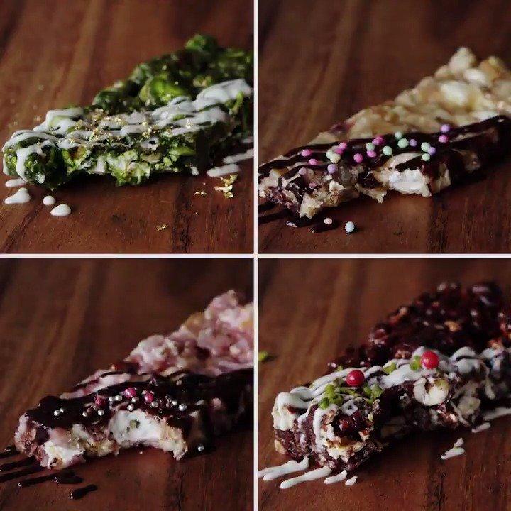 【どれ食べたい?】ポップコーン入り4種チョコバー🍫 レシピが探しやすいインスタも見てね♡