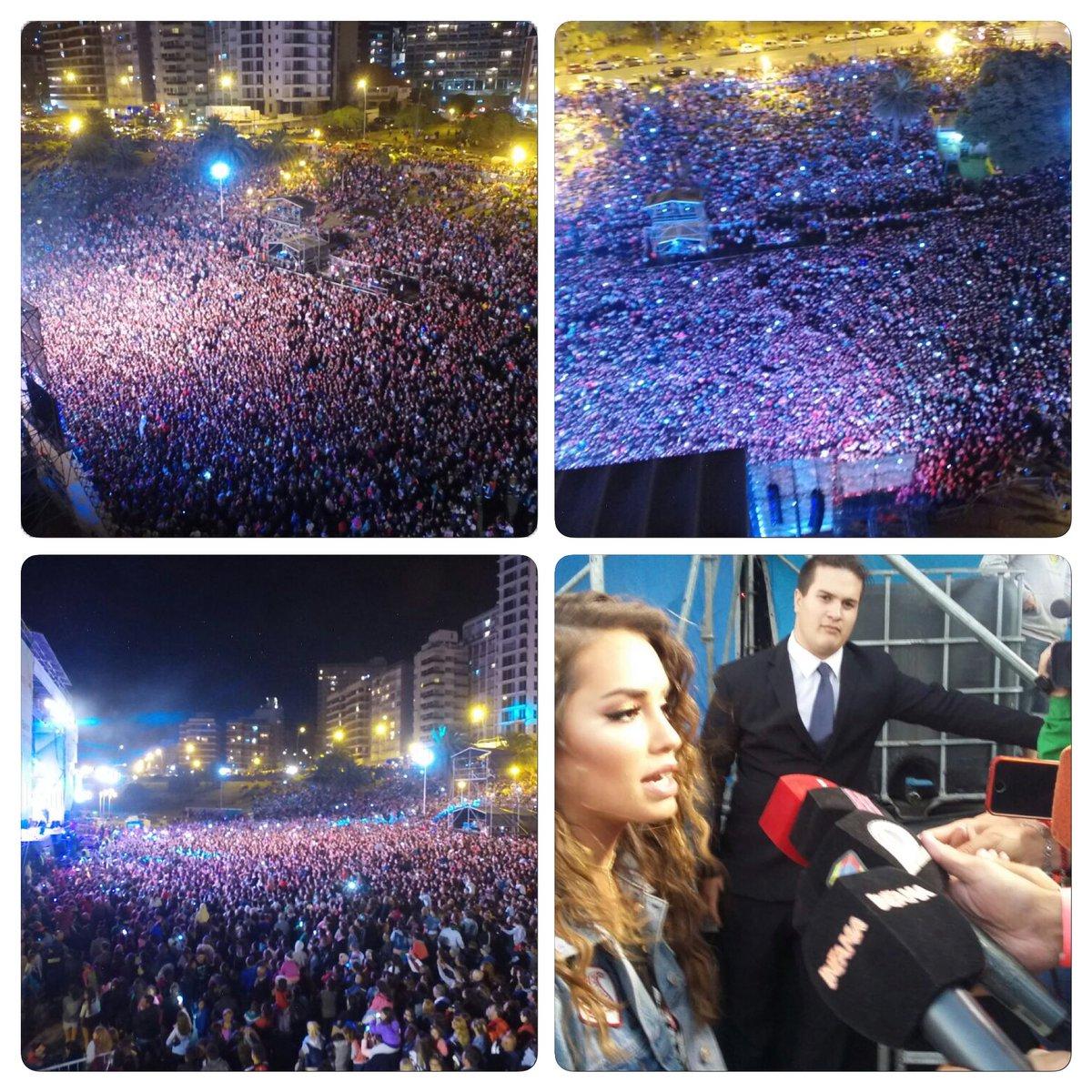Increíble la cantidad de gente que participó del recital de @laliespos en Mar del Plata https://t.co/dIpZvvVFoD