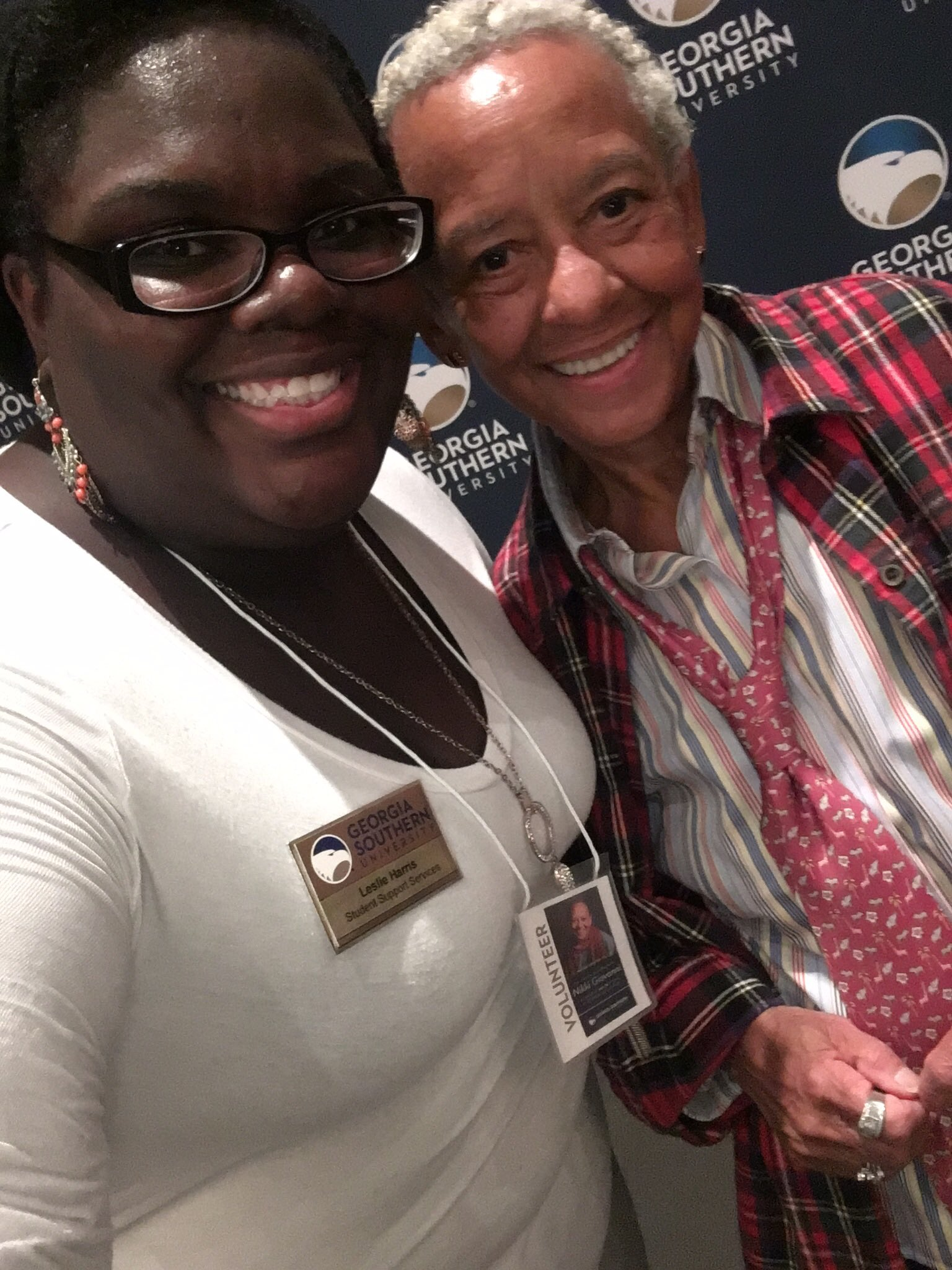 Had the opportunity to hear Nikki Giovanni speak tonight, and it was great! Got this selfie too! https://t.co/J7hmrvteIe