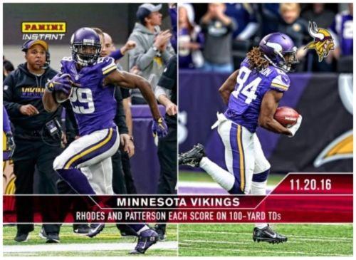 2016-17 Panini Instant #NFL #227 - Xavier Rhodes &amp; Cordarrelle Patterson - /53  http:// dlvr.it/N8H0mn  &nbsp;   #Football<br>http://pic.twitter.com/1vuJz8MRXk