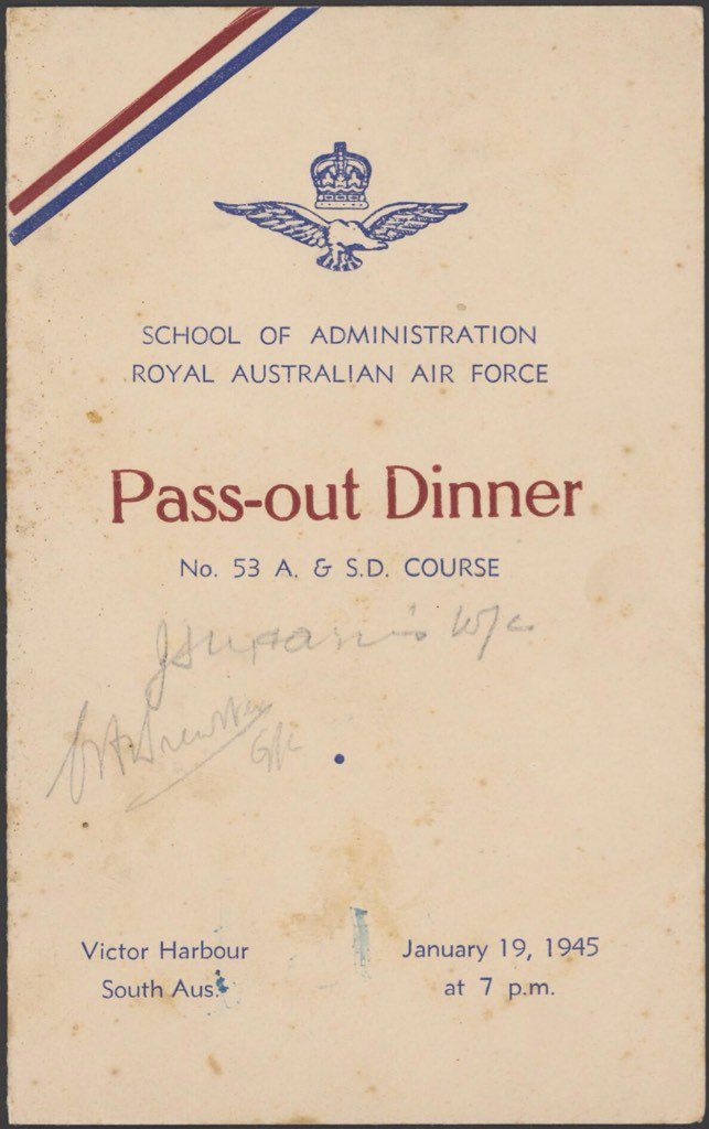 #OnThisDay 1945 @Aus_AirForce Pass Out Dinner #Roast #Gosling #recipe  http:// bit.ly/2k5Tyu3  &nbsp;   #food #foodhistory<br>http://pic.twitter.com/wRKOLtgPLb