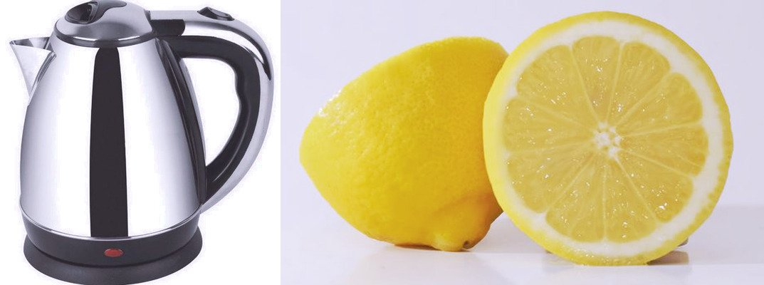 #Fixit Quick way to clean electric kettle Simply cut lemon in half, put into kettle and fill with water Bring to boil, kettle like new  <br>http://pic.twitter.com/AeUerXoaiw
