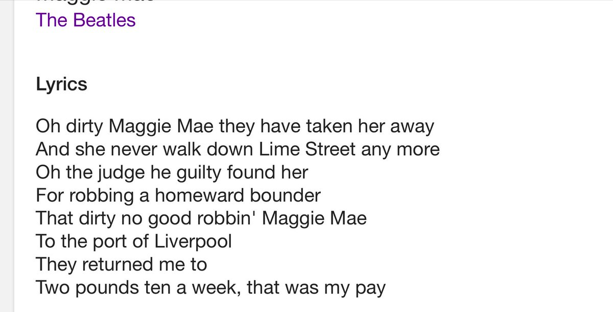 Lyric maggie may lyrics : James Melville on Twitter: