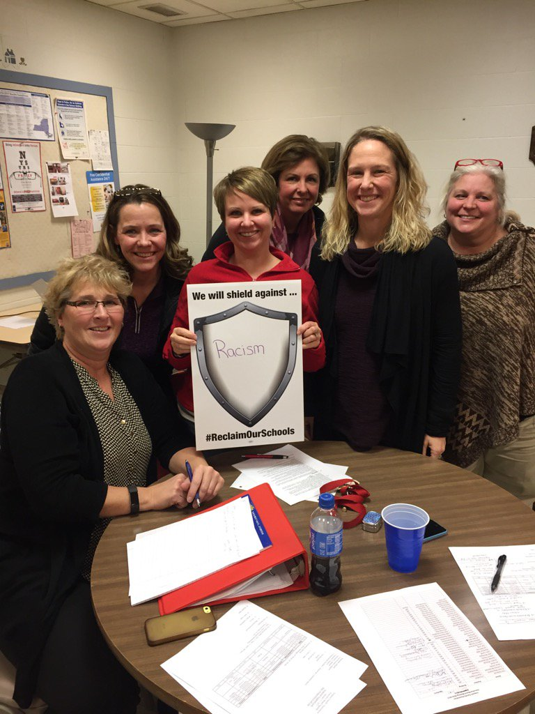 Iroquois faculty association shields against racism #ReclaimOurSchools https://t.co/PDLSkE54fS