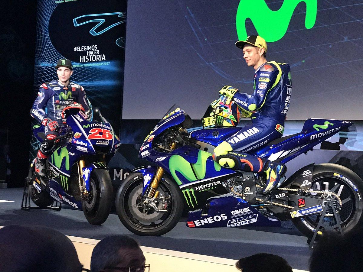 Valentino Rossi dan Maverick Vinales memperkenalkan tunggangan mereka untuk musim 2017.